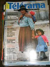 Télérama N° 2051 1989 Le Pérou en faillite Léos Carax Sally Field Ivan Levaï TV