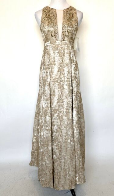 Metallic Embellished Formal Dress Gown