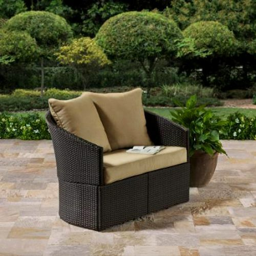 Resin Wicker Sofa Patio Loveseat Outdoor Love Seat Couch Chair Furniture  Brown | EBay