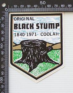 VINTAGE COOLAH BLACK STUMP NSW AUSTRALIA TRAVEL CAR BIKE WINDSCREEN STICKER