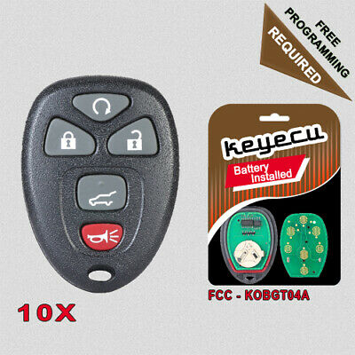 2 New Replacement 4 Button Keyless Entry Remote Key Fob Shell Case and Button Pad Compatible with 15252034 CanadaAutomotiveSupply /©