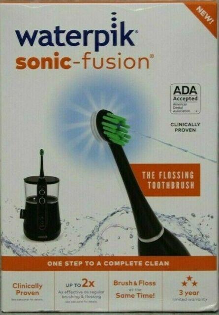 Waterpik SF-01W022-2 Sonic Fusion Flossing Toothbrush - Black D