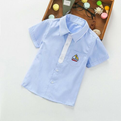 Summer Kids Boys Casual Shirts Clothes Child Baby Boy Short Sleeve Tops Clothing