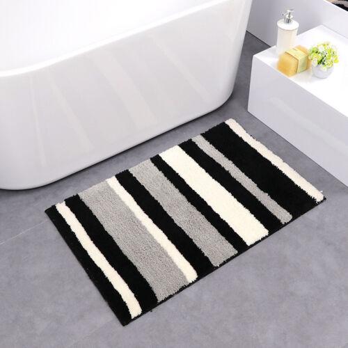 Home Non Slip Microfiber Shag Mat Bathroom Mats Shower Rugs Soft Colorful Carpet