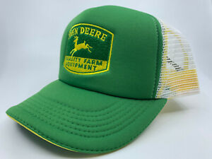 John Deere Green / White Vintage Logo Trucker Cap CPLP64484