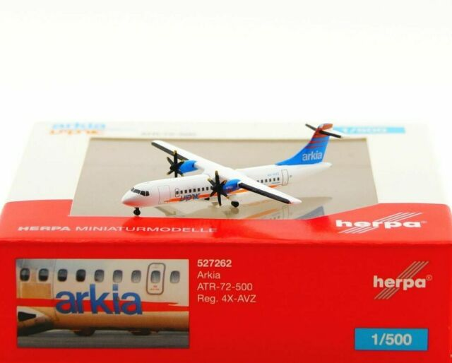 Herpa Wings 1:500 atr-72 Arkia Israel Airlines 527262