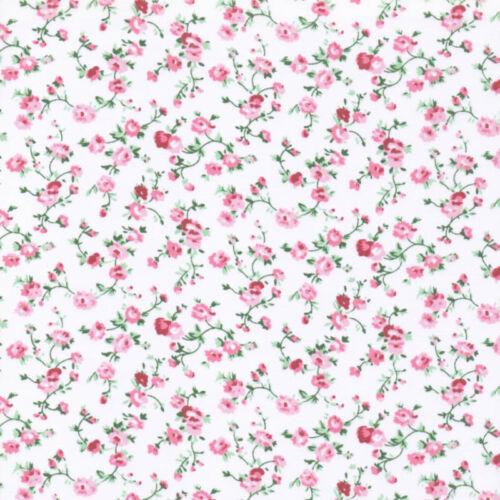 Tela De Poliéster Algodón Delicada Floral Molly Vivero empavesado Patchwork