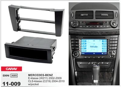 C219 2002-2009; CLS-Klasse 2004-2010 CARAV 11-451 2 DIN Marco de pl/ástico para Radio para Mercedes Benz E-Klasse W211
