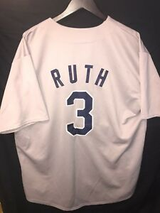quality design 7cac2 49ded Details about MLB Mitchell & Ness New York Yankees Jersey Babe Ruth #3 Men  Size XL