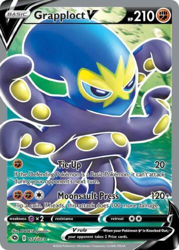 Full Art Ultra Rare 072//073 Grapploct V Pokemon TCG Card