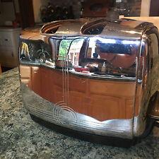 Vintage Sunbeam T-20B Radiant Control Chrome Finish Art Deco Toaster