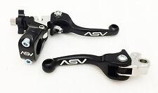 ASV F3 Unbreakable Shorty Black Brake + Clutch Levers Set CR125 CR250 CR500