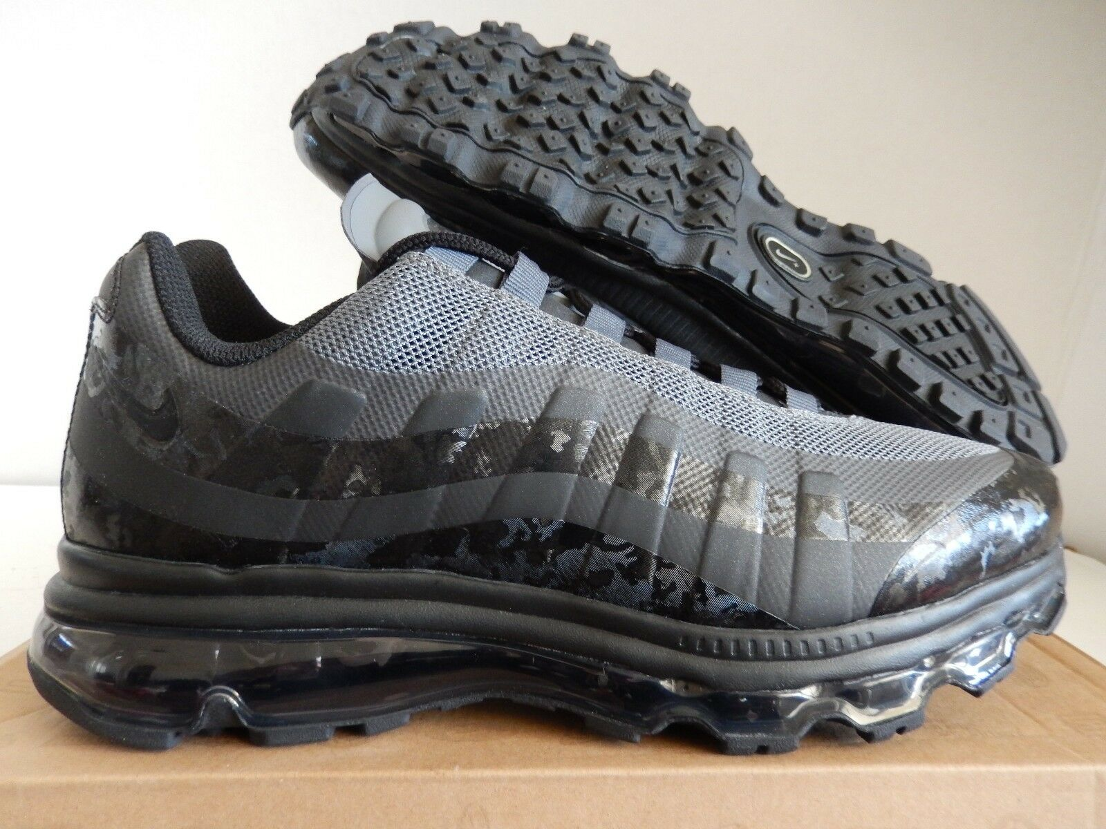 NIKE AIR MAX 95 + BB BLACK-ANTHRACITE-DARK GREY SZ 10