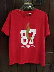 new style a205e fca93 Details about Dwight Clark Day 87 SAN FRANCISCO SF 49ers Sz. XL Levi's The  Catch Shirt Red
