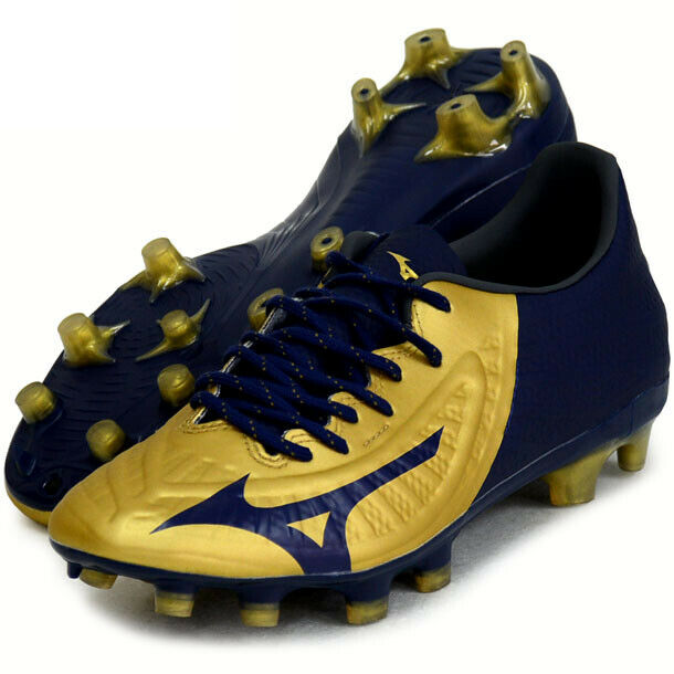 Mizuno Japan Rebula 3 pro Fußball Känguru Schuhe P1GA2064 Gold Marineblau