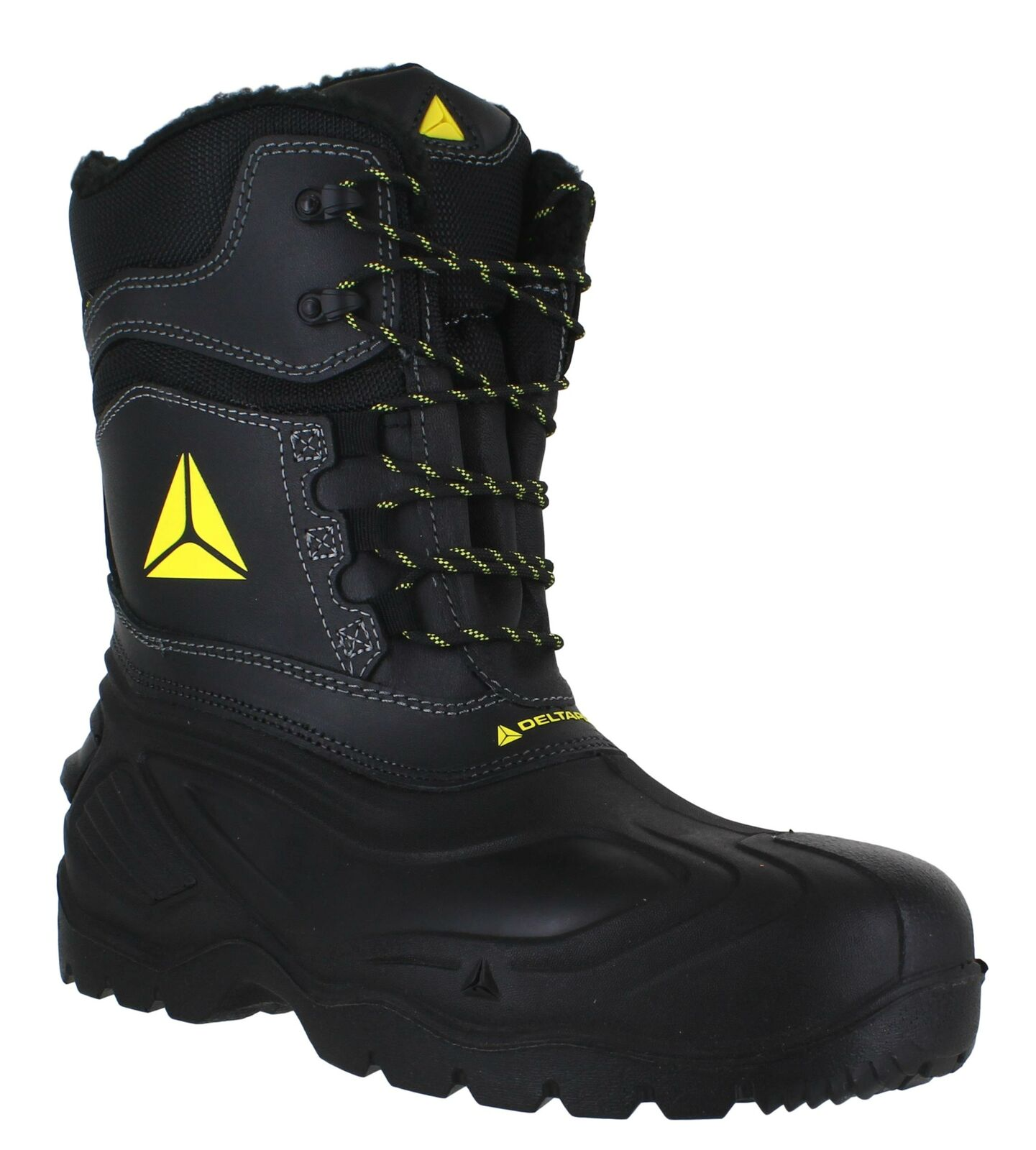 Mens Delta-Plus Waterproof Tall Safety Composite Toe/Midsole Boots Sizes 7 to 12