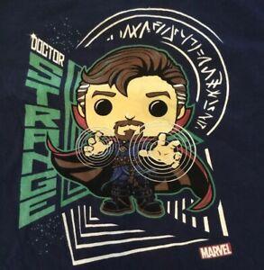 Funko-Pop-Tee-Doctor-Strange-Marvel-Collector-Corps-Graphic-T-Shirt-Crewneck-XL
