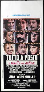 CINEMA-locandina-TUTTO-A-POSTO-E-NIENTE-IN-ORDINE-volonte-diberti-WERTMULLER