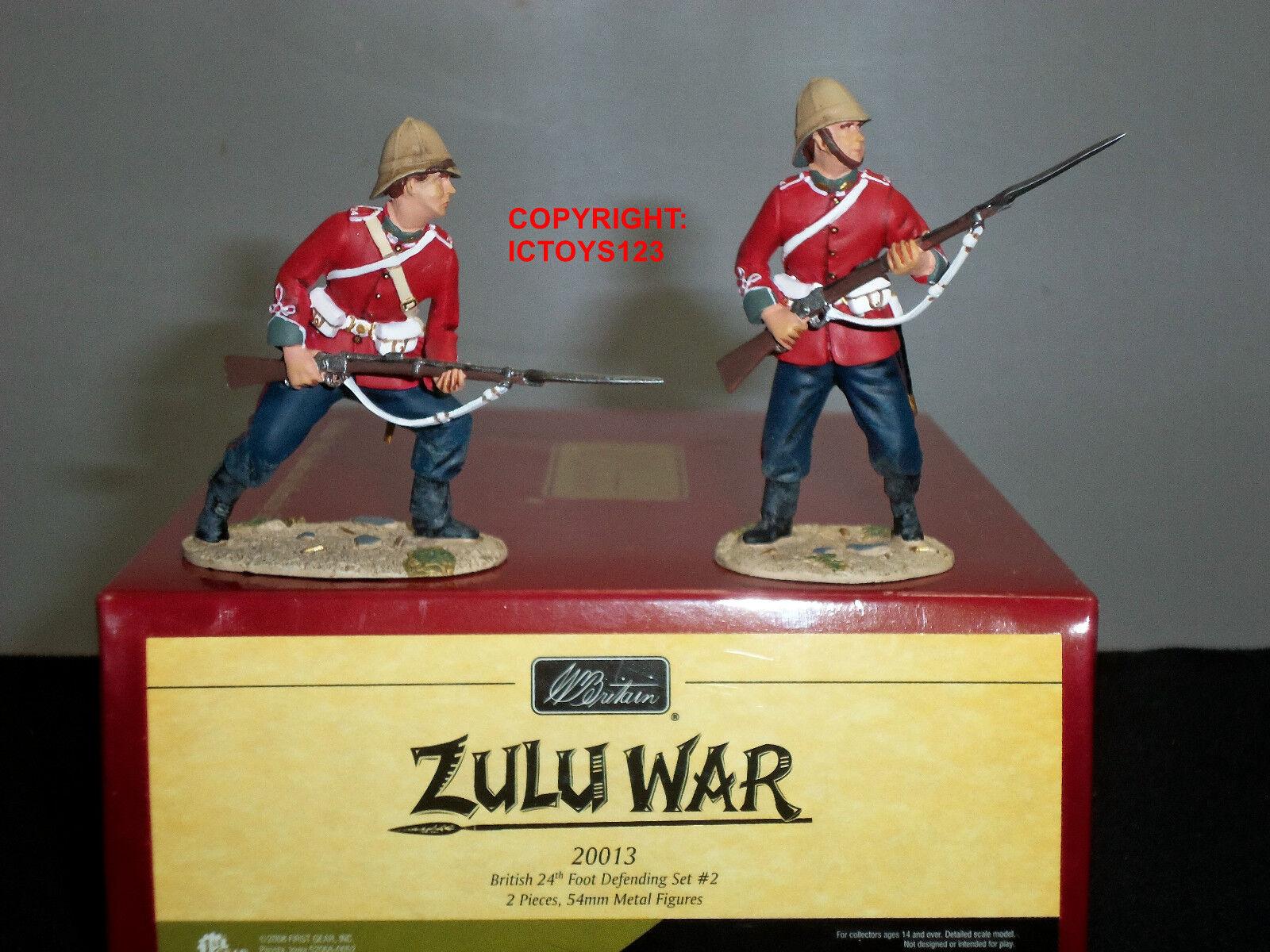 BRITAINS 20013 ZULU WAR BRITISH 24TH FOOT TOY SOLDIER FIGURE DEFENDING SET 2