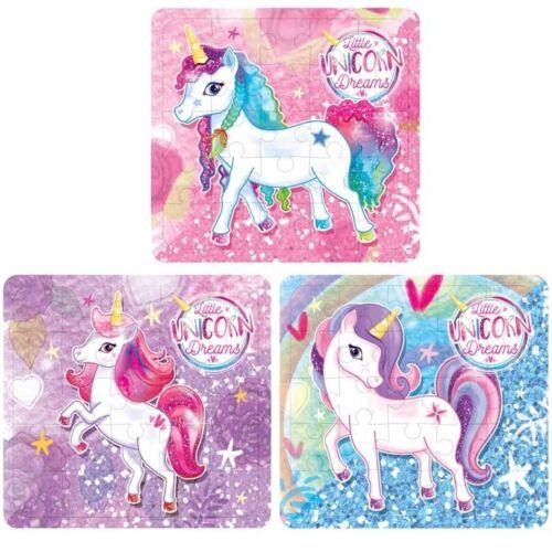 Unicorn Jigsaw Puzzle Girls Party Bag Fillers Pinata Prizes Kids Stocking Filler