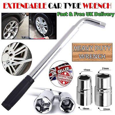 17 19 21 23mm HEAVY DUTY Extendable Wheel Car Brace Socket Tyre Nut Wrench 6-18