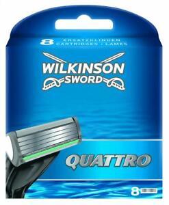 Wilkinson-Quattro-Lames-de-Rasoir-pour-Homme-Pack-8