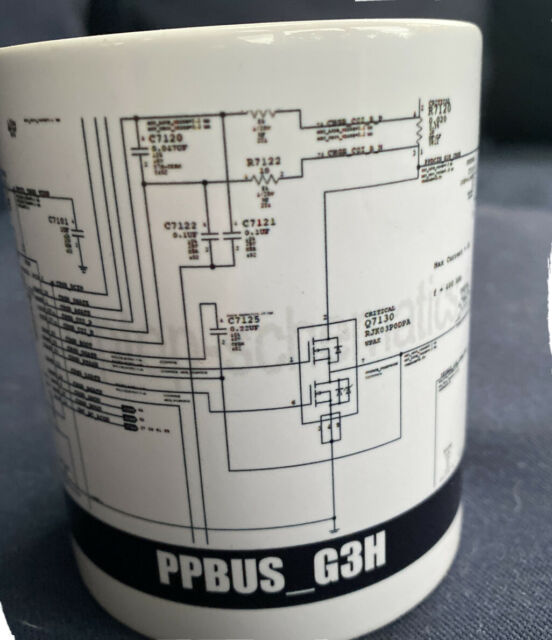 Ppbus G3h Electronic Schematic Mug A1466 Macbook Air  Pro