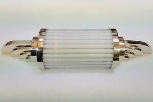 Ancien-Old-Art-Deco-Nickel-Laiton-amp-Glass-Rod-Lumiere-Appliques-murale-Lampe