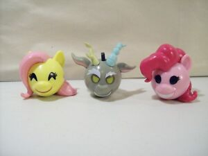 LOT-3-MY-LITTLE-PONY-MYMOJI-FUNKO-PVC-FIGURE-HEADS-PINKIE-PIE-FLUTTERSHY-CHAOS