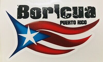 PUERTO RICO BORICUA flag Decal Sticker with coqui Easy to paste