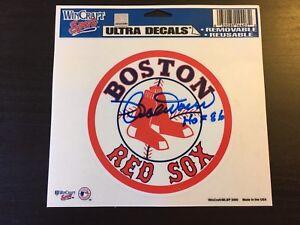 BOBBY DOERR d.17 SIGNED HOF 86 BOSTON RED SOX 2006 DECAL,Baseball Hall Of Fame