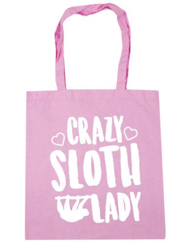 Crazy sloth lady Tote Shopping Gym Beach Bag 42cm x38cm 10 litres