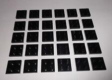 Lego (3022) 30 Platten 2x2, in schwarz aus 8880, 10018, 10219, 4559, 5571, 8156