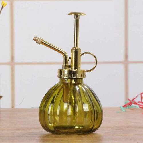 Vintage Glas Gießkanne Herr Blume Garten Pflanze Sprühflasche /& Pump @97k