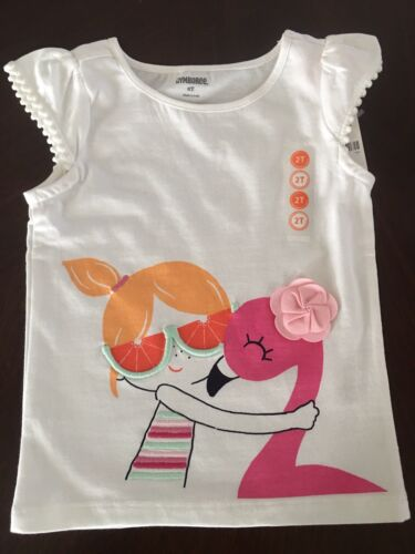 Skirt //Glasses Outfit 18-24 2T 4T NWT Gymboree Girl Fruit Punch Flamingo Top