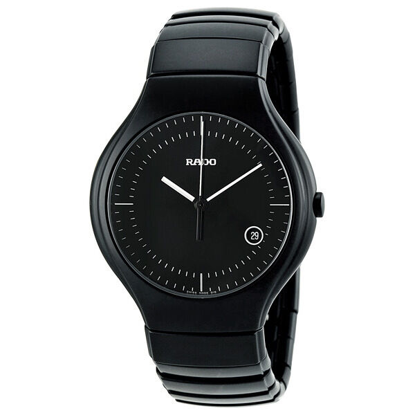 Rado True Black Dial Black Ceramic Mens Watch R27816152