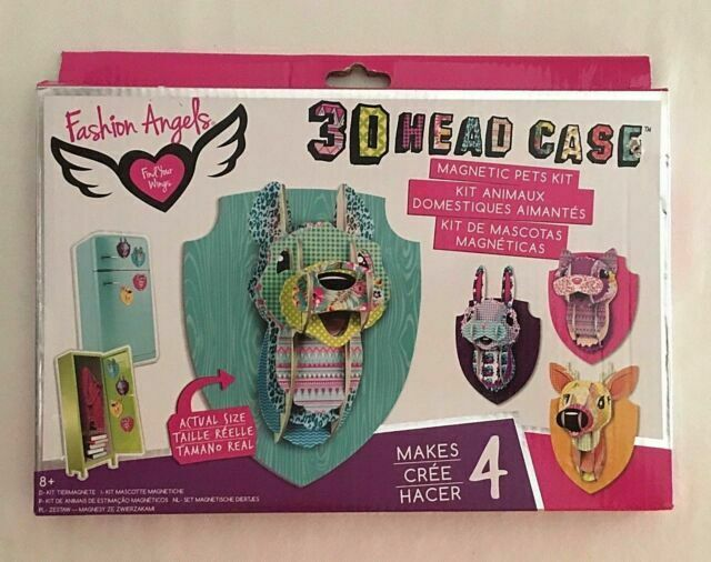 Fashion Angels 3d Head Case Craft Kit Makes 4 Children S Crafts Kit Wall Art For Sale Online Ebay