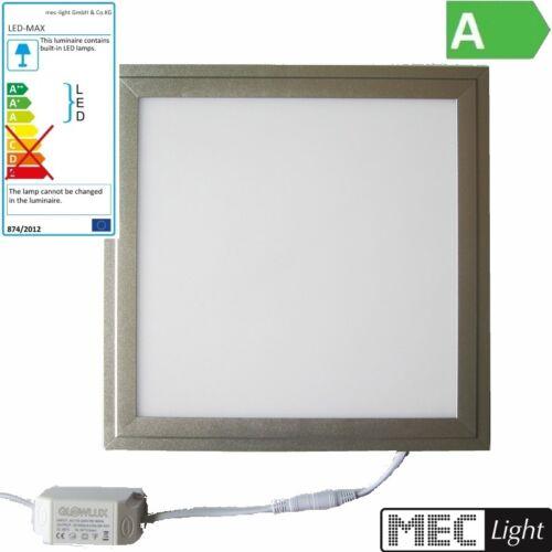 4W 320LM eckig-satin-nickel 90mm DA weiß 20mm ET LED Einbau-Deckenleuchte