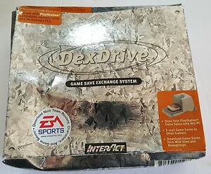 NEW-W-Crushed-Box-DexDrive-Playstation-1-to-PC-Memory-Card-Game-Save-Transfer