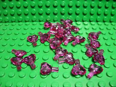 10 NEW LEGO Rock 1 x 1 Jewel Heart Shaped Trans-Dark Pink