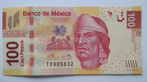 MEXICO 100 Pesos 2015 P124 UNC Banknote