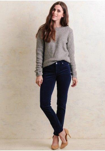 Ralph Lauren bluee Corduroy Skinny Jeans Pants Size US 4