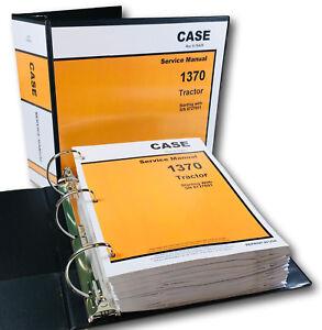 case 1370 tractor service repair manual technical shop book overhaul rh ebay com Case 1170 Case Tractor Company