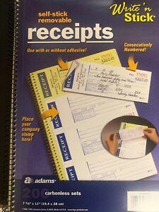 Adams-Self-Stick-Removable-Receipts-200-Carbonless-Sets-Write-amp-Stick