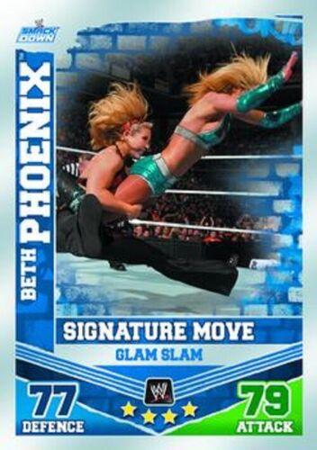 Beth Phoenix FM-signature move Topps WWE Slam Attax Mayhem #23