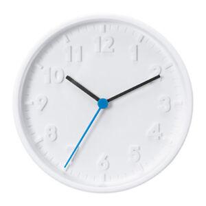 NEW-IKEA-STOMMA-WALL-CLOCK-White-Blue-Silent-Quartz-Movement-20cm-Diameter