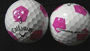 10-Callaway-034-Chrome-034-souple-avec-034-Pink-truvis-034-Balles-de-golf-034-PEARL-A-034-grades
