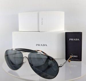 9c34ed27119 Brand New Authentic Prada Sunglasses SPR 56S 5AV-7W1 Silver Frame ...