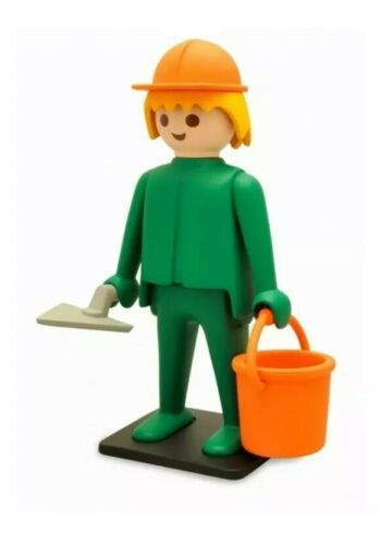 Playmobil Collectoys Construction Worker New Boxed Vintage Collector Ref 214