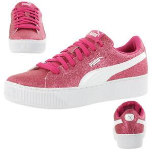 Puma Vikky Platform Glitzer Junior Mädchen Damen Schuh